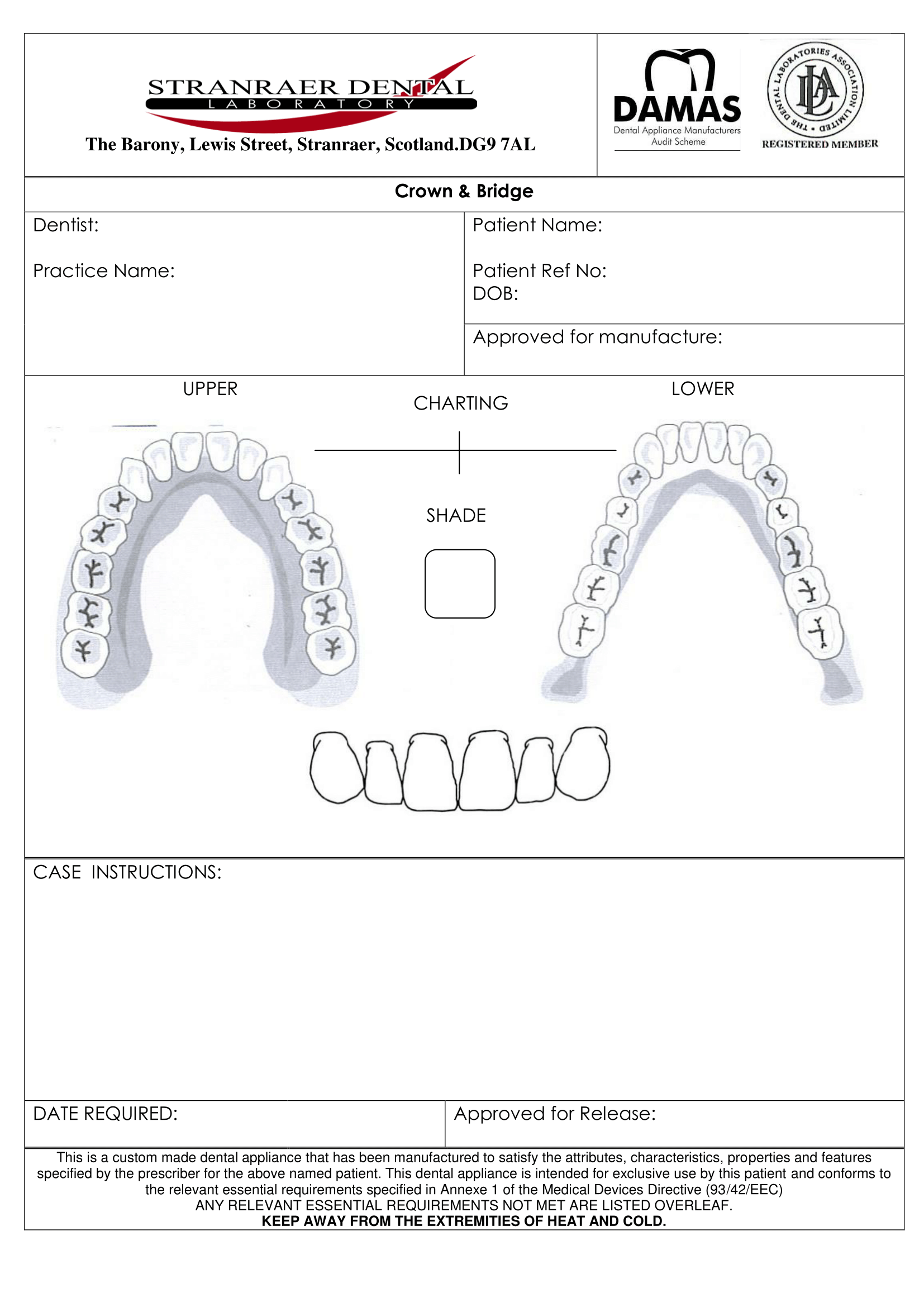 crown & bridge design sheet-1